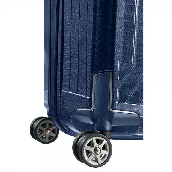 Samsonite Lite-Box Spinner 75 deep blue Harde Koffer van Curv