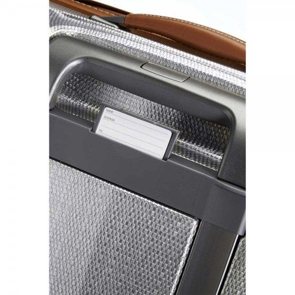 Samsonite Lite-Cube DLX Spinner 55 Width 23 cm aluminium Harde Koffer van Curv