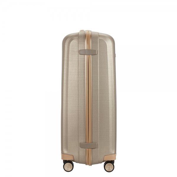 Samsonite Lite-Cube Prime Spinner 82 matte ivory gold Harde Koffer van Curv