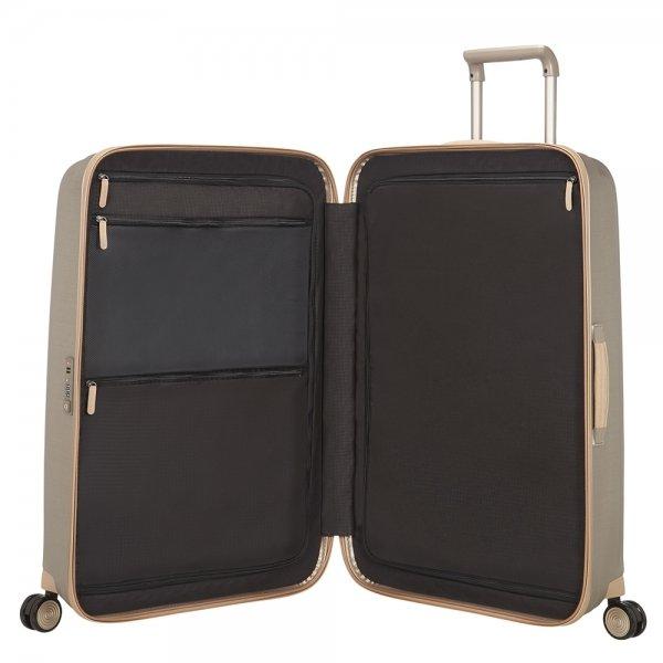 Samsonite Lite-Cube Prime Spinner 82 matte ivory gold Harde Koffer