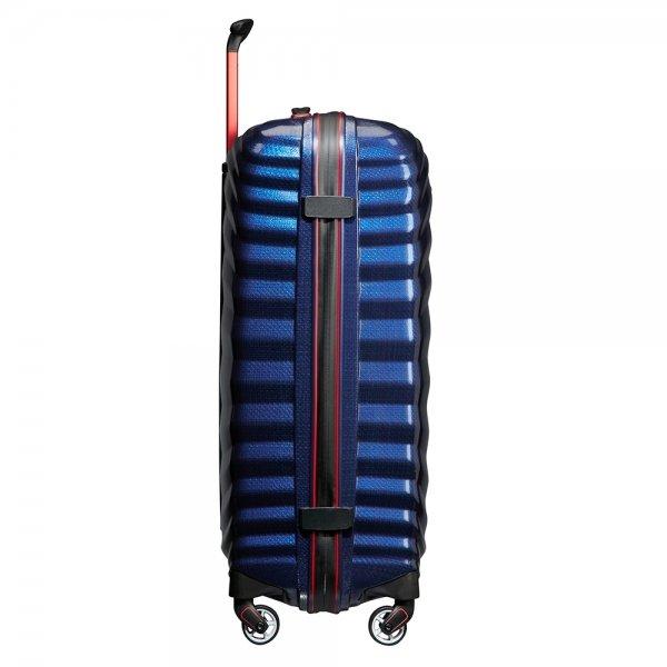 Samsonite Lite-Shock Sport Spinner 69 nautical blue/red Harde Koffer van Curv