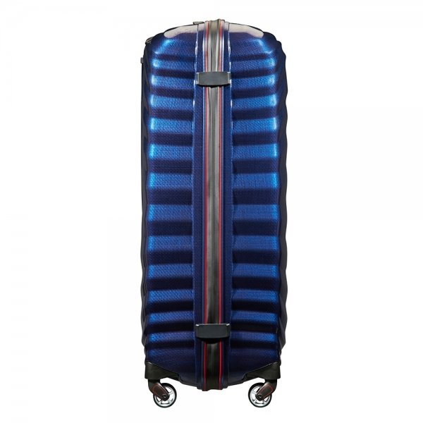 Samsonite Lite-Shock Sport Spinner 81 nautical blue/red Harde Koffer van Curv