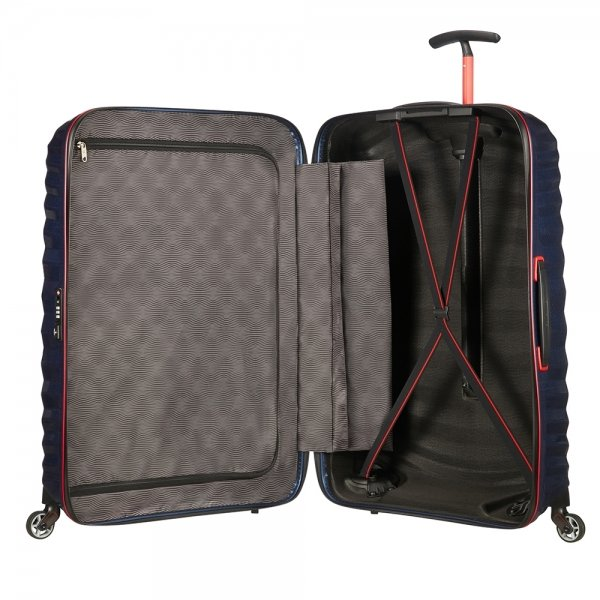 Samsonite Lite-Shock Sport Spinner 81 nautical blue/red Harde Koffer