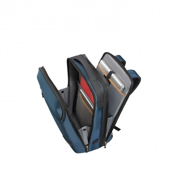 Samsonite Litepoint Laptop Backpack 17.3'' Exp peacock backpack van Polyester