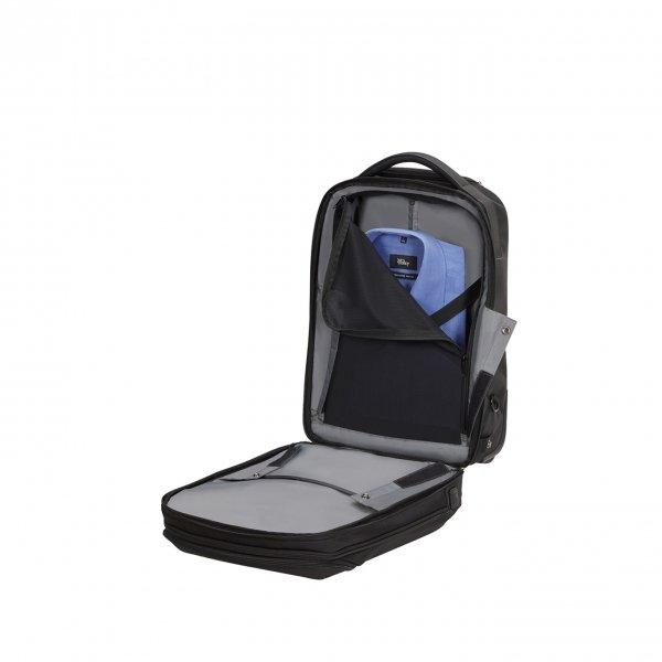Samsonite Litepoint Laptop Backpack/Wheels 17.3'' black Trolley van Polyester