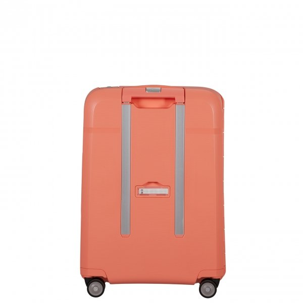 Samsonite Magnum Spinner 55 coral pink Harde Koffer van Polypropyleen