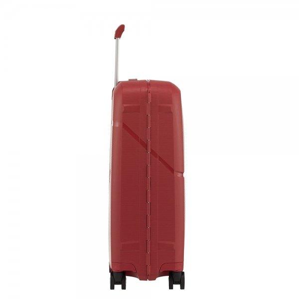 Samsonite Magnum Spinner 55 rust red Harde Koffer van Polypropyleen
