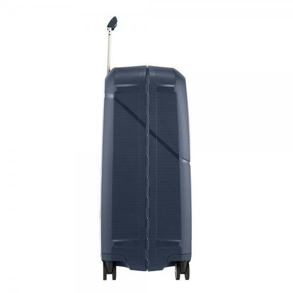 Samsonite Magnum Spinner 69 dark blue Harde Koffer van Polypropyleen