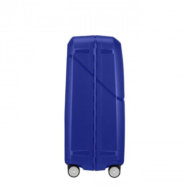 Samsonite Magnum Spinner 75 cobalt blue Harde Koffer van Polypropyleen