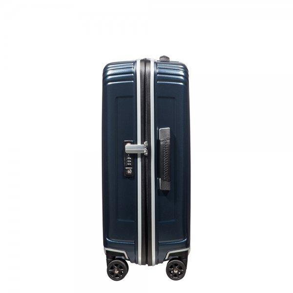 Samsonite Neopulse DLX Spinner 55 width 23cm matte midnight blue Harde Koffer van Polycarbonaat