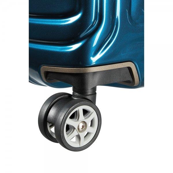 Samsonite Neopulse Spinner 55 metallic blue Harde Koffer van Polycarbonaat