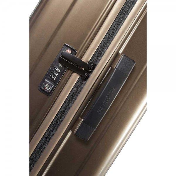 Samsonite Neopulse Spinner 69 metallic sand Harde Koffer van Polycarbonaat