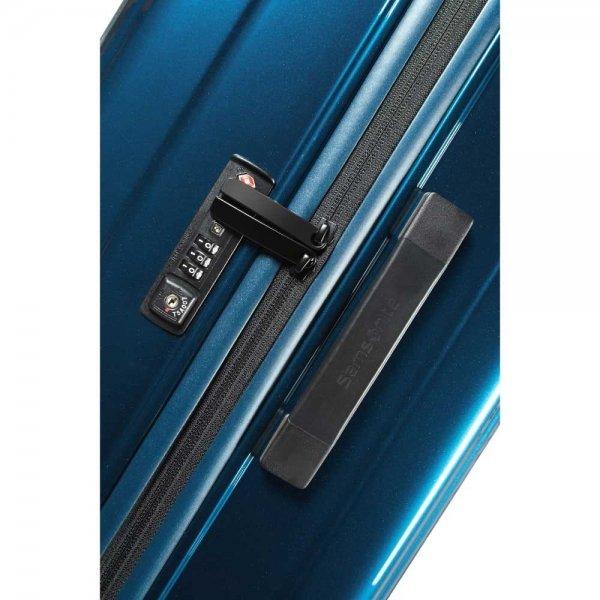 Samsonite Neopulse Spinner 75 metallic blue Harde Koffer van Polycarbonaat