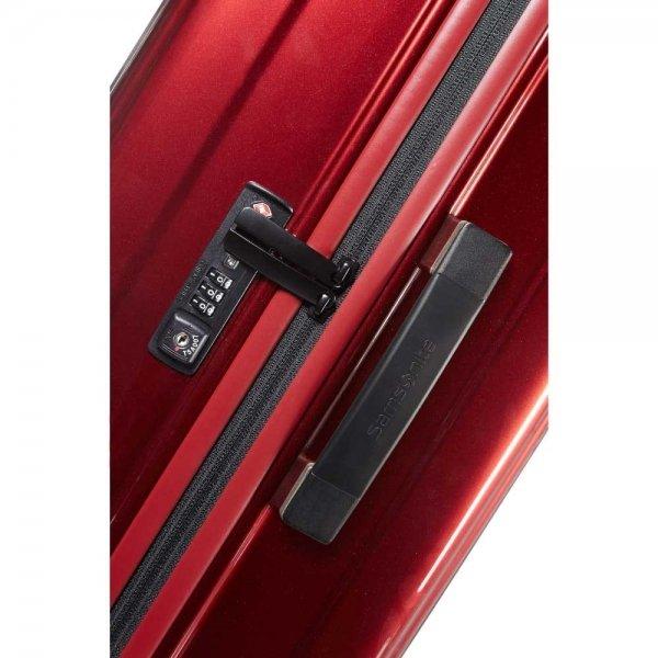 Samsonite Neopulse Spinner 75 metallic red Harde Koffer van Polycarbonaat
