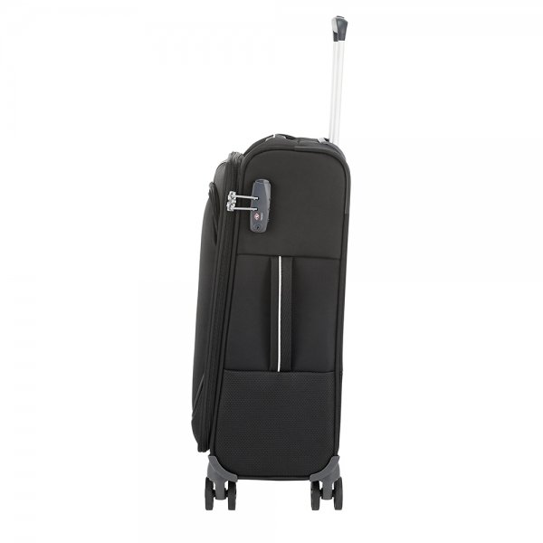 Samsonite Popsoda Spinner 55/35 black Zachte koffer van Polyester