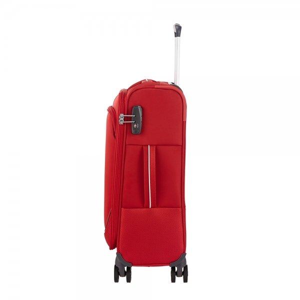 Samsonite Popsoda Spinner 55/35 red Zachte koffer van Polyester