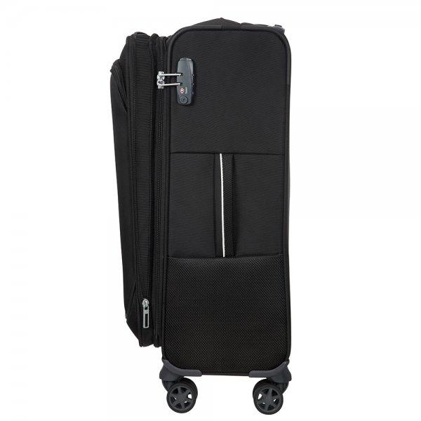 Samsonite Popsoda Spinner 66 Exp black Zachte koffer van Polyester