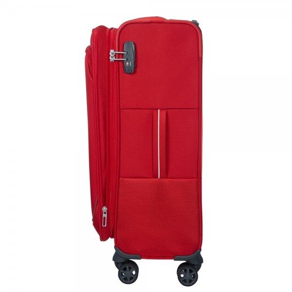 Samsonite Popsoda Spinner 78 Exp red Zachte koffer van Polyester