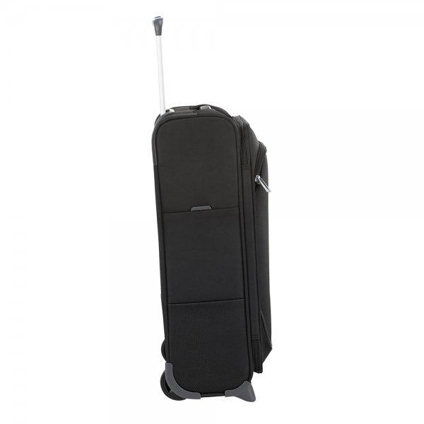Samsonite Popsoda Upright 55 black Zachte koffer van Polyester