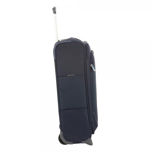 Samsonite Popsoda Upright 55 dark blue Zachte koffer van Polyester