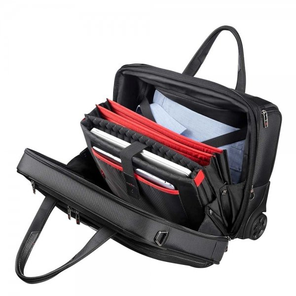 Samsonite Pro-DLX 5 Business Case Wheels 15.6'' Expandable black Pilotenkoffer van Nylon