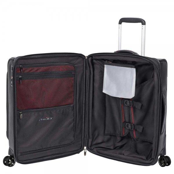 Samsonite Pro-DLX 5 LTH Spinner 55 Expandable black Zachte koffer