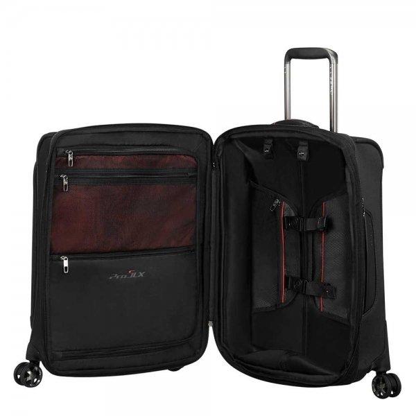 Samsonite Pro-DLX 5 Spinner 55 Expandable black Zachte koffer van Nylon
