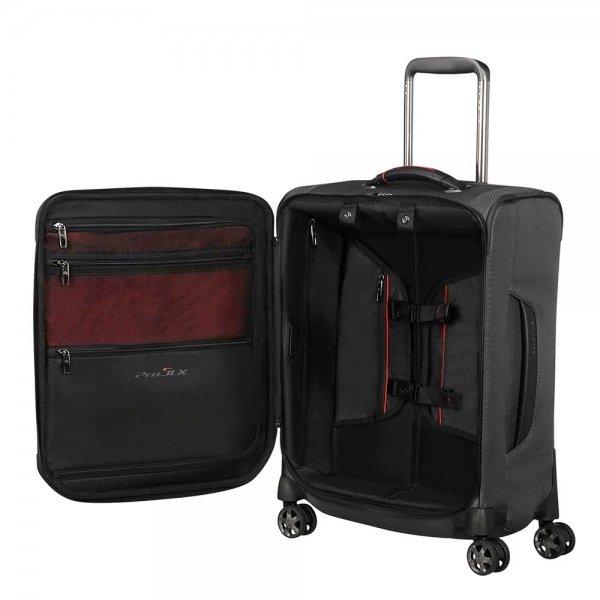 Samsonite Pro-DLX 5 Spinner 55 Strict black Zachte koffer van Nylon