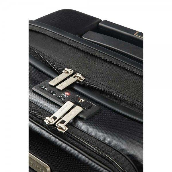 Samsonite Prodigy Spinner 55 exp black Harde Koffer van Polycarbonaat