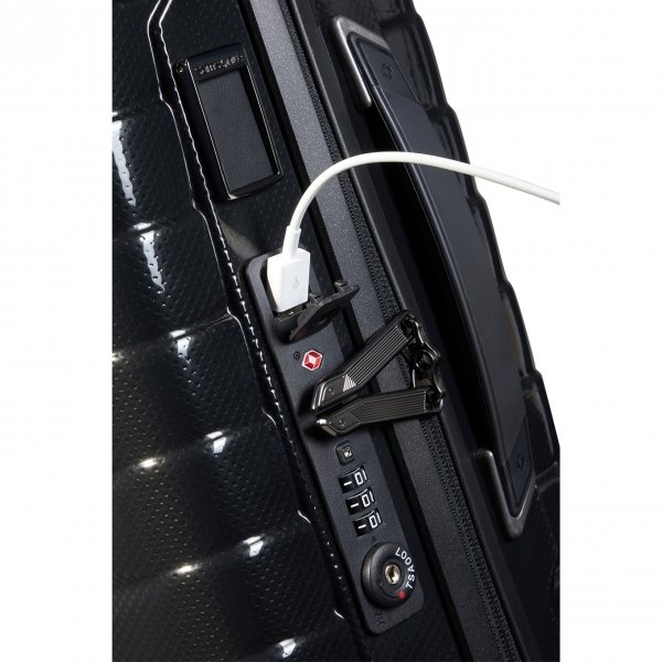 Samsonite Proxis Spinner 55 Expandable black Harde Koffer van Roxkin