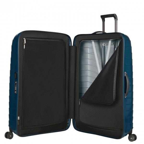 Samsonite Proxis Spinner 81 petrol blue Harde Koffer van Roxkin