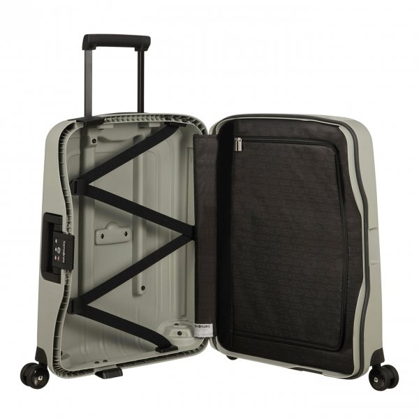 Samsonite S'Cure Eco Spinner 55 green grey Harde Koffer van Polypropyleen