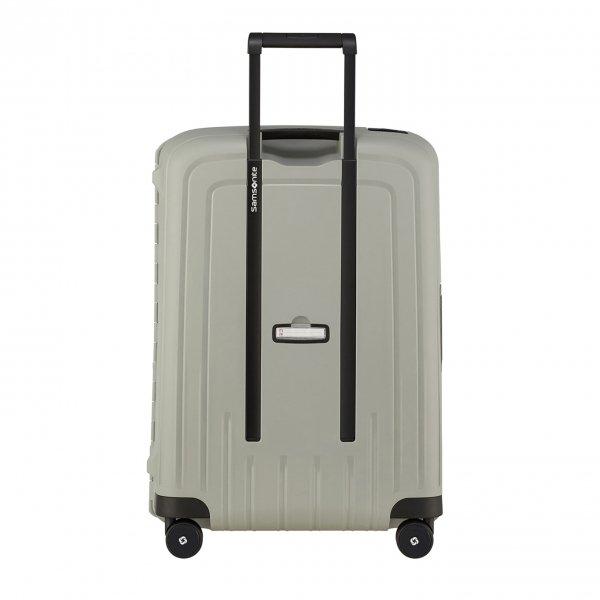 Samsonite S'Cure Eco Spinner 69 green grey Harde Koffer van Polypropyleen
