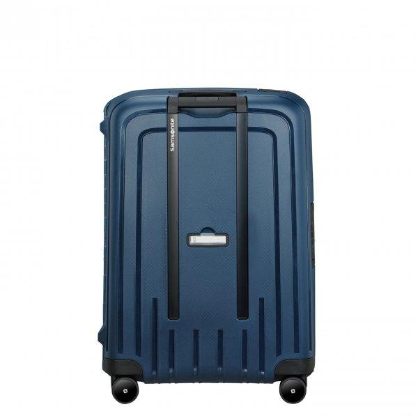Samsonite S'Cure Eco Spinner 69 navy blue Harde Koffer van Polypropyleen