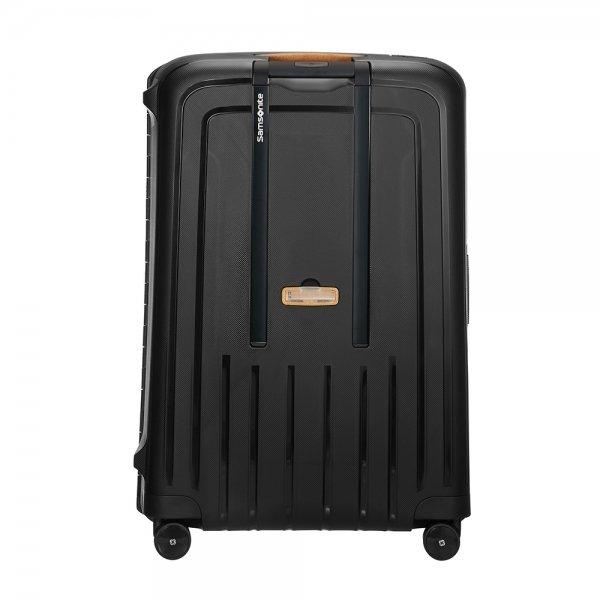 Samsonite S'Cure Eco Spinner 81 eco black Harde Koffer van Polypropyleen