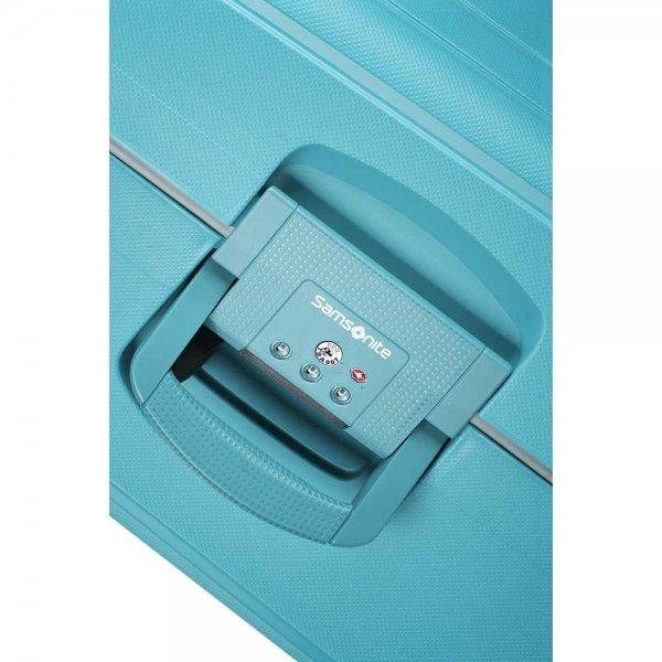 Samsonite S'Cure Spinner 55 aqua blue Harde Koffer