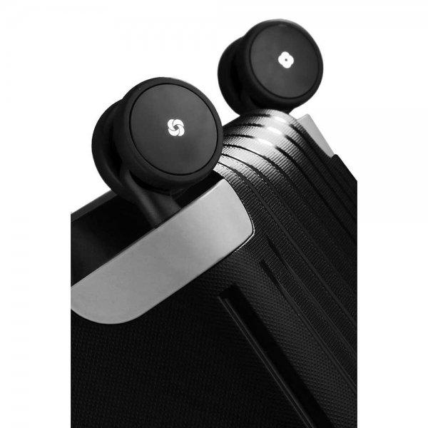 Samsonite S'Cure Spinner 55 black Harde Koffer van Polypropyleen