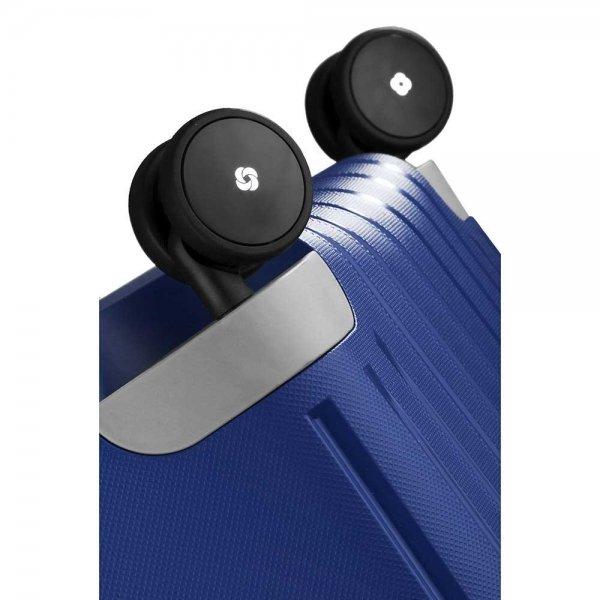 Samsonite S'Cure Spinner 55 dark blue Harde Koffer van Polypropyleen