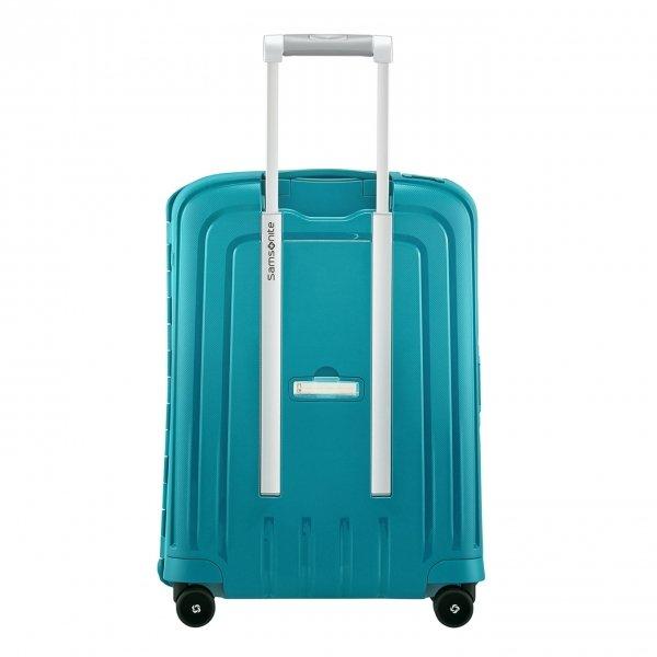 Samsonite S'Cure Spinner 55 petrol blue capri Harde Koffer van Polypropyleen