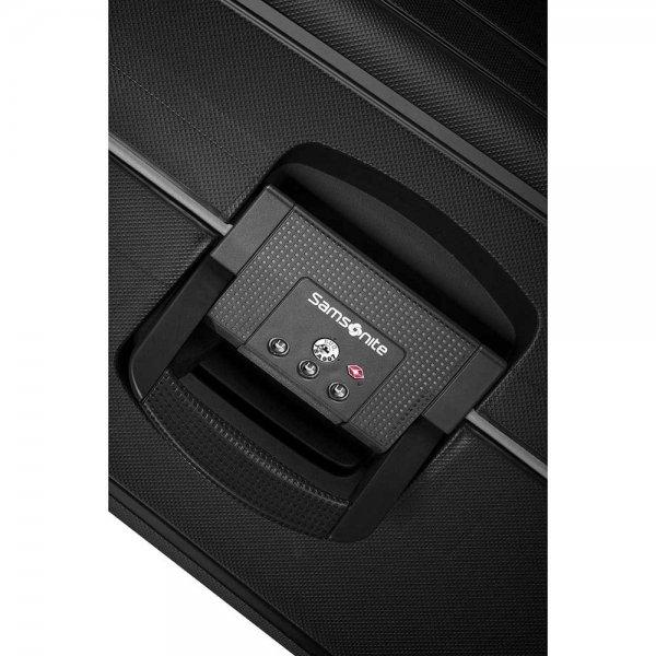 Samsonite S'Cure Spinner 75 black Harde Koffer van Polypropyleen