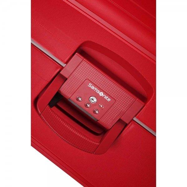 Samsonite S'Cure Spinner 75 crimson red Harde Koffer van Polypropyleen