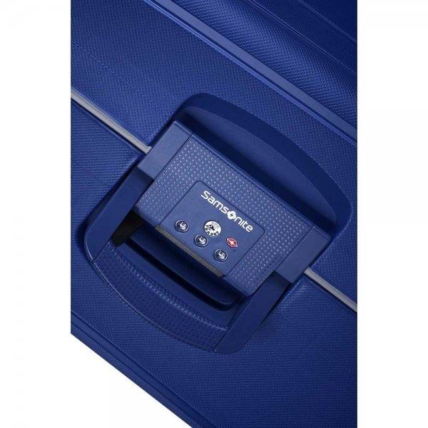 Samsonite S'Cure Spinner 75 dark blue Harde Koffer van Polypropyleen