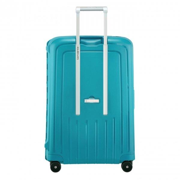Samsonite S'Cure Spinner 75 petrol blue capri Harde Koffer van Polypropyleen