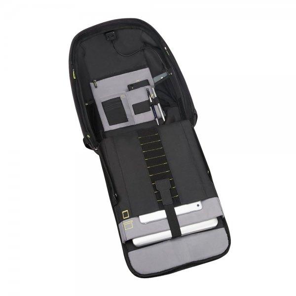 Samsonite Securipak Laptop Backpack 15.6'' black steel backpack van Polyester