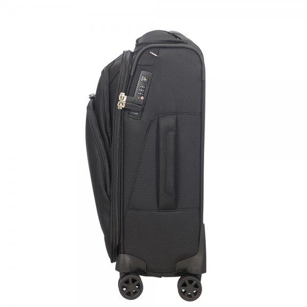 Samsonite Spark SNG Eco Spinner 55 Toppocket eco black Zachte koffer van Polyester