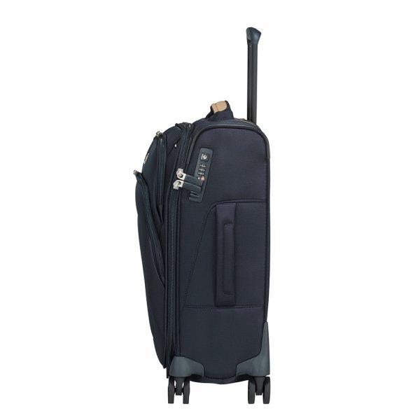 Samsonite Spark SNG Eco Spinner 55/35 eco blue Zachte koffer van Polyester