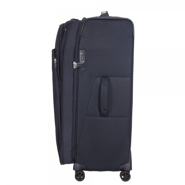 Samsonite Spark SNG Eco Spinner 82 Expendable eco blue Zachte koffer van Polyester