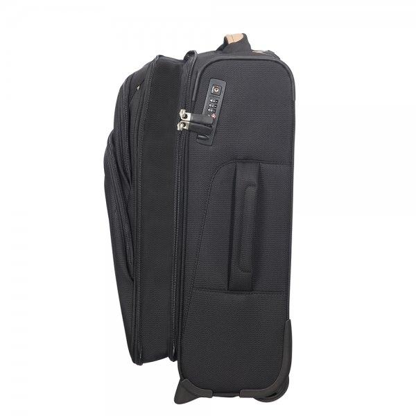 Samsonite Spark SNG Eco Upright 55 Expendable eco black Zachte koffer van Polyester