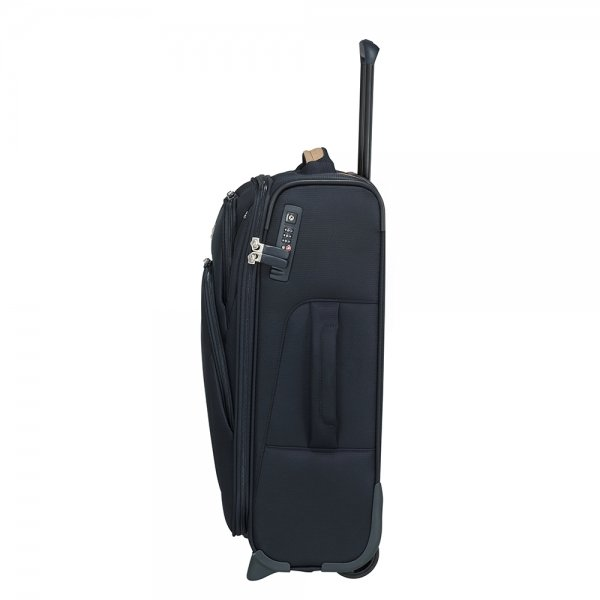 Samsonite Spark SNG Eco Upright 55 Expendable eco blue Zachte koffer van Polyester