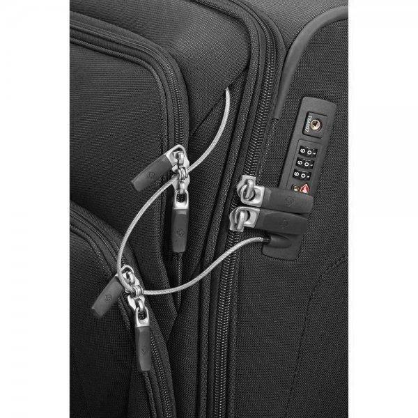 Samsonite Spark SNG Upright 55 Expandable black Zachte koffer van Polyester